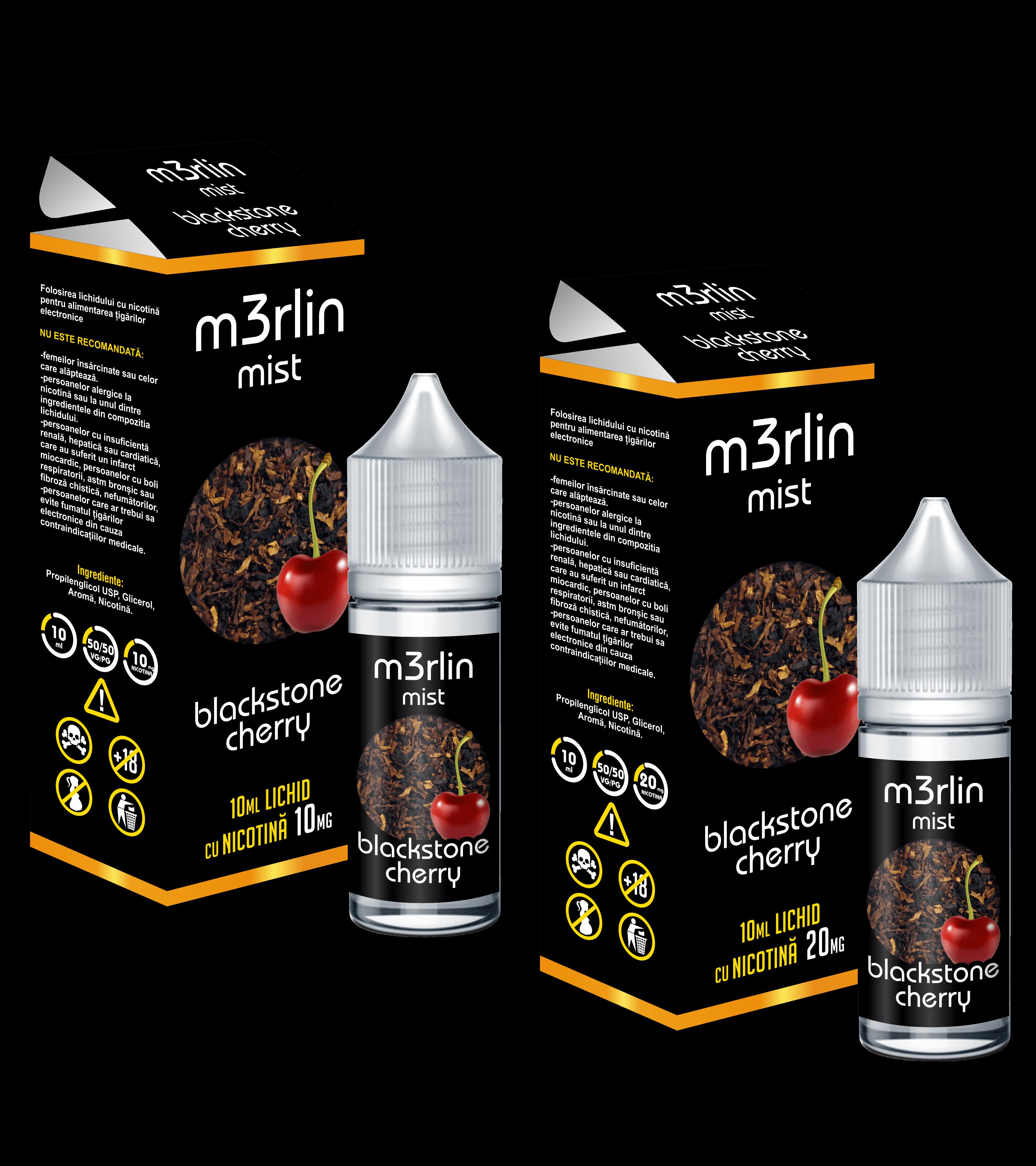 Lichid Tigara Electronica M3rlin Mist Blackstone Cherry 10ml