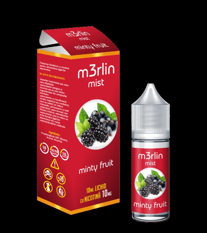 Lichid Tigara Electronica M3rlin Mist Minty Fruit 10ml