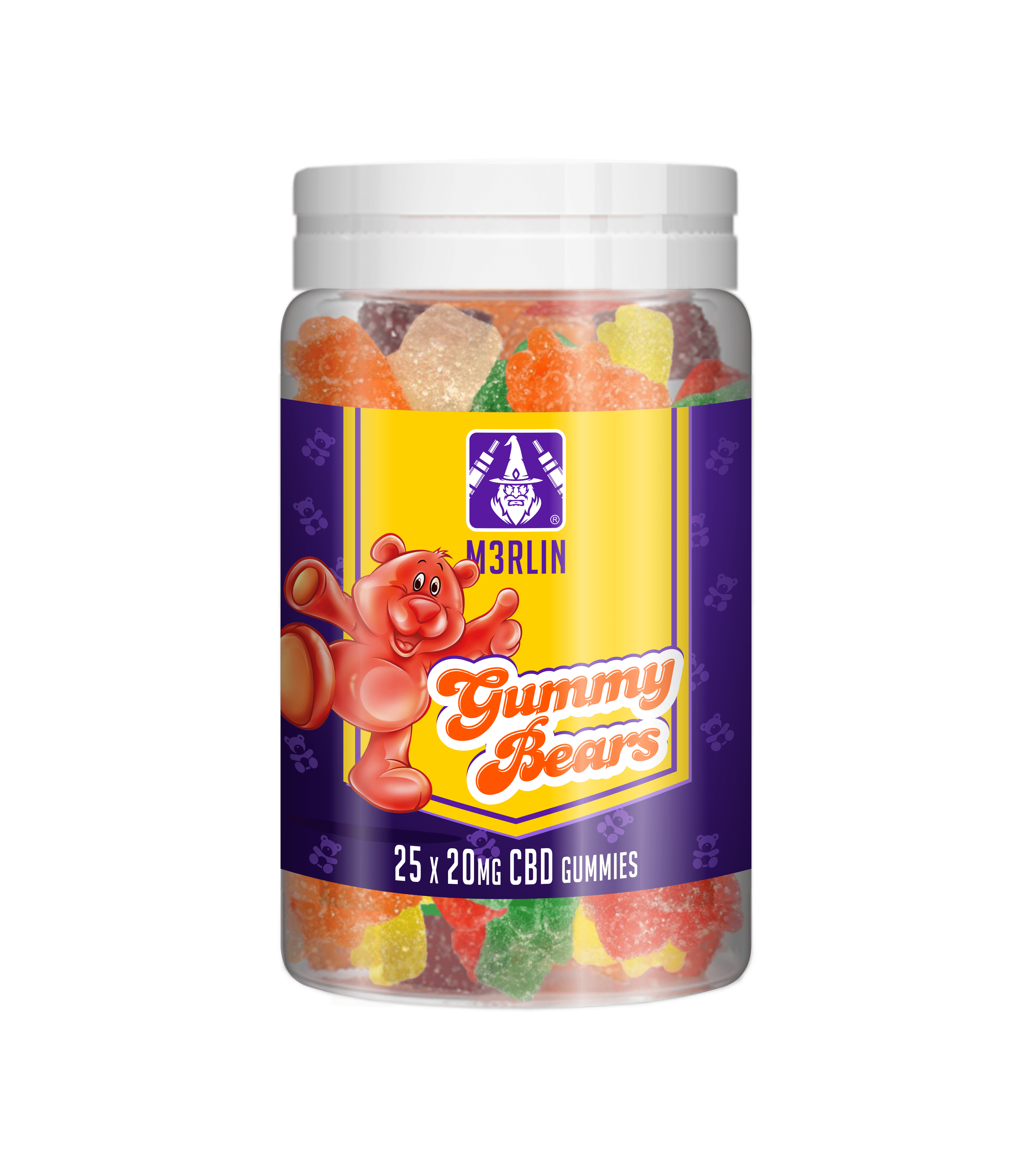 M3RLIN Gummy Bears CBD 20mg